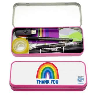Little Mistress x Kindred Rainbow Thank You NHS Pink Rainbow Thank You Pencil Case