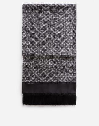 Dolce & Gabbana Silk Jacquard Scarf With Fringing