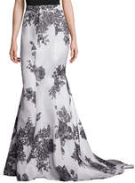 Monique Lhuillier Women's Silk Long Trumpet Skirt