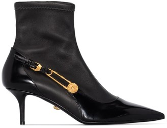 Versace 55mm Pointed Toe Boots
