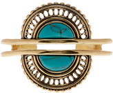 Lucky Brand Turquoise Stone Double Cuff Bracelet