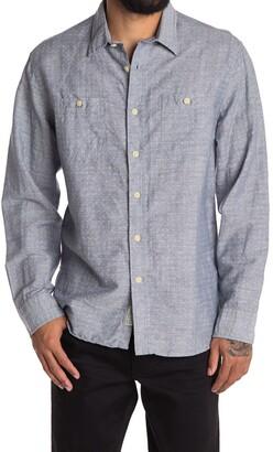 Grayers Wainscott Linen Blend Long Sleeve Dress Shirt