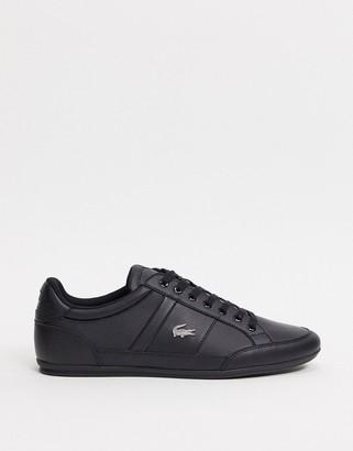 Lacoste chaymon sneakers in triple black leather