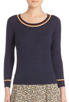 Akris Punto Stripe-Detail Wool Sweater