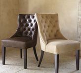 Pottery Barn Hayes Tufted Leather Dining Side Chair