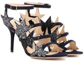 Charlotte Olympia Twinkle Toes Embellished Suede Sandals
