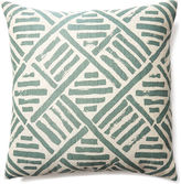 One Kings Lane Stroke 20x20 Linen-Blend Pillow, Olive