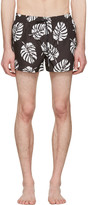 Dolce & Gabbana Black Leaf Swim Shorts