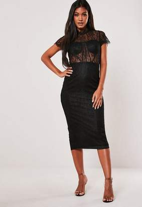 Missguided Lace Cupped Bodycon Midi Dress