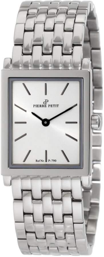 Pierre Petit Women's P-790E Serie Nizza Stainless-Steel Square Case Bracelet Watch