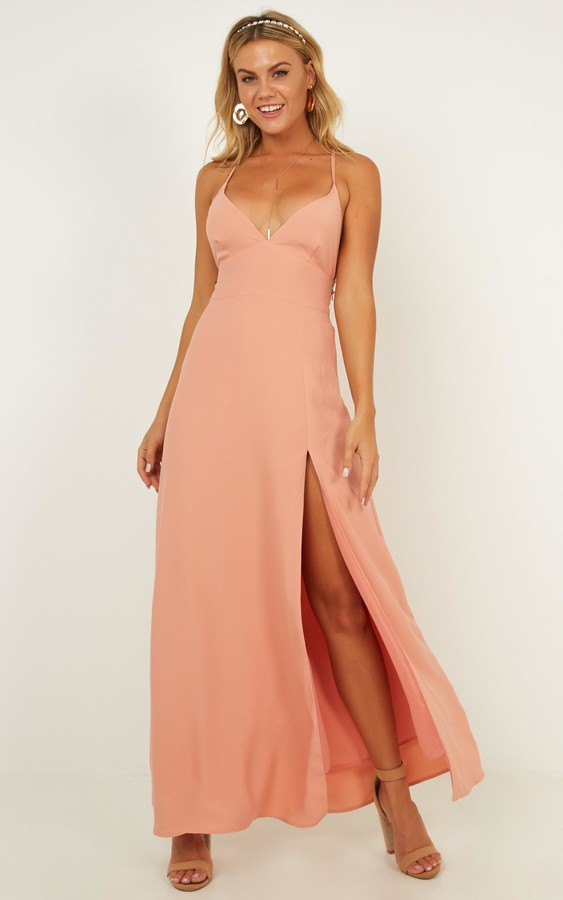 Showpo Royal Lady Dress in blush - 6 (XS) Engagement Dresses