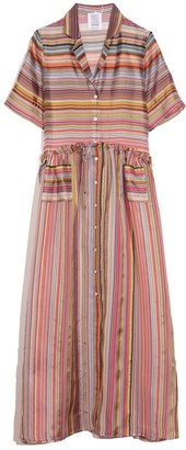 Rosie Assoulin Gathered Shirtdress in Rainbow