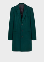 Thumbnail for your product : Paul Smith Men's Dark Teal Wool-Blend Epsom Coat