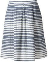 Women's Studio 253 Pleated Stripe Skirt