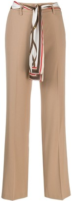 Cambio Scarf Belted Tailored Trousers