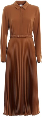 Max Mara Pleated Midi Dress