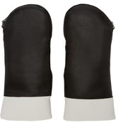 Kenzo Black Fur-Lined Mittens