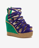 Brian Atwood Colorblock Wedge Sandals