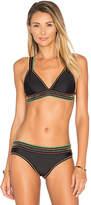 Agua Bendita Bendito Lila Bikini Top in Black. - size M (also in S)