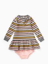 Kate Spade Babies metallic stripe dress set