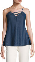 Gold Hawk Women's Cut Out Denim Camisole