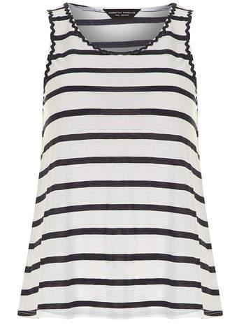 Dorothy Perkins Ivory and navy stripe vest