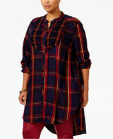 Melissa McCarthy Trendy Plus Size Plaid Tunic
