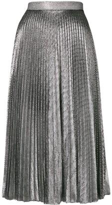 Christopher Kane pleated lamé mesh skirt