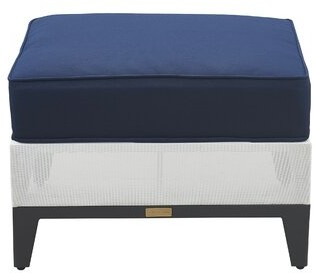 Tommy Hilfiger Hampton Outdoor Ottoman with Cushion