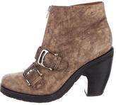Rachel Comey Suede Buckle Ankle Boots