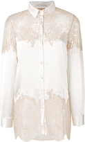 Ermanno Scervino lace detail shirt - women - Silk/Polyimide - 40
