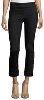 Helmut Lang Pull-On Crop Flare Denim Pants, Black