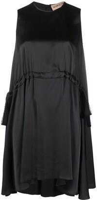 Blanca Vita Drawstring-Waist Trapeze Dress