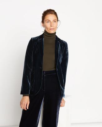 Jigsaw Silk Velvet Blazer