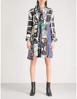 Comme des Garcons Patchwork asymmetric woven coat