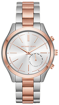 Michael Kors Access MKT4018 Women's Slim Runway Bracelet Strap Hybrid Smartwatch, Rose Gold/Silver