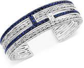 Effy Balissima Sapphire Cuff Bracelet (4-1/10 ct. t.w.) in Sterling Silver