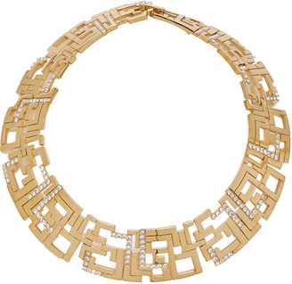 Leda Madera Goldie Crystal-Embellished Gold-Plated Brass Necklace