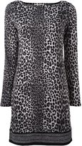 MICHAEL Michael Kors leopard print fitted dress - women - Cotton/Polyester/Spandex/Elastane - XL