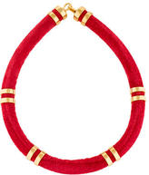 Lizzie Fortunato Double Take Leather Tube Necklace