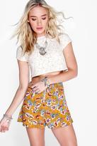 Boohoo Grace Floral Woven Shorts