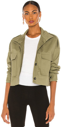 The Range Structured Twill Cropped Military Jacket