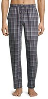 Hanro Paolo Flannel Lounge Pants, Toffee Check