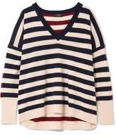 J.Crew Rosalyn Striped Cashmere Sweater - Ivory