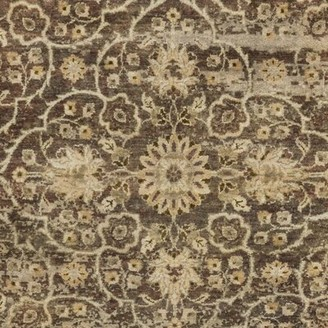 "Surya Empress Olive/Gray Area Rug Rug Size: Rectangle 5'6"" x 8'6"""