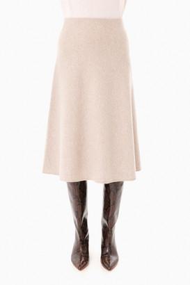 Max Mara Beige Cachi Skirt