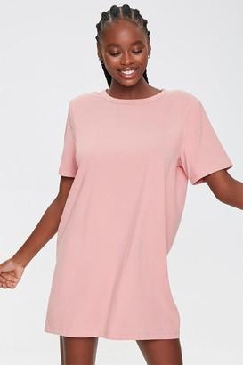 Forever 21 Shoulder-Pad T-Shirt Dress