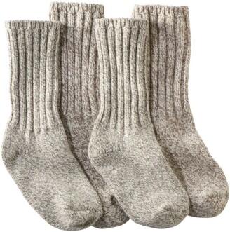 """L.L. Bean Adults' Merino Wool Ragg Socks, 10"""" Two-Pack"""