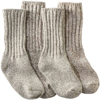 "L.L. Bean Women's Merino Wool Ragg Socks, 10"" Two-Pack"