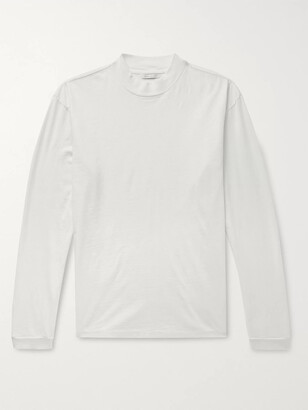 John Elliott Mock-Neck Slub Cotton-Jersey T-Shirt